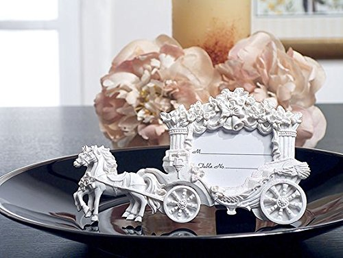 (2X3 White Place Card Frame Wedding Coach C5421 Quantity of 1 by Cassiani)