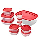 Rubbermaid Easy Find Lids Food Storage Container, 24-piece Set, Red