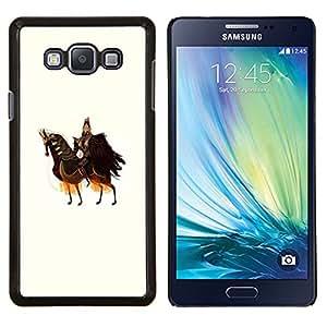 YiPhone /// Prima de resorte delgada de la cubierta del caso de Shell Armor - Caballo Caballero Guerrero Arte antiguo Rey Soberano - Samsung Galaxy A7 A7000