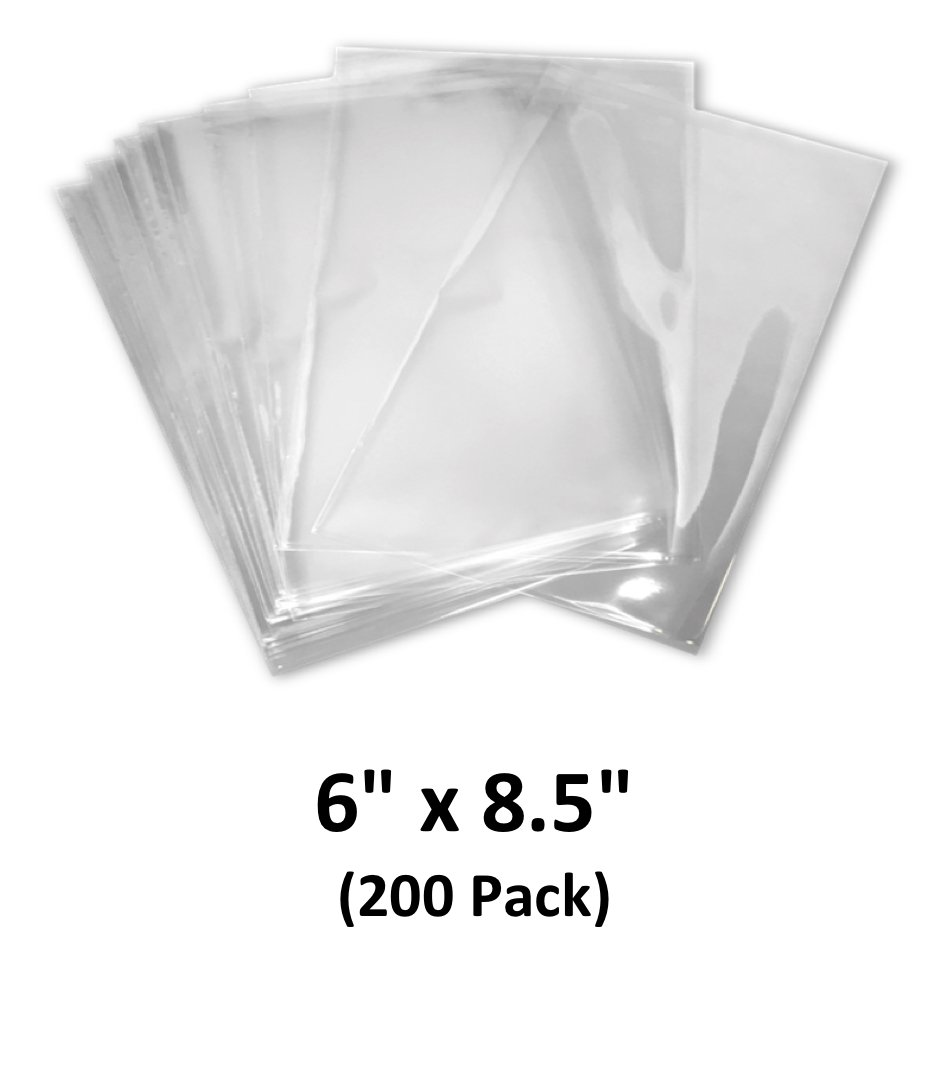 6x8.5 inch Odorless, Clear, 100 Guage, PVC Heat Shrink Wrap Bags for Gifts, Packagaing, Homemade DIY Projects, Bath Bombs, Soaps, and Other Merchandise (200 Pack) | MagicWater Supply