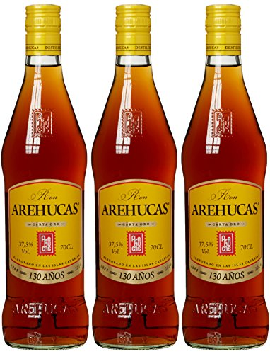 Arehucas Ron, Carta Oro, Canarische Inseln, Golden (3 x 0.7 l)