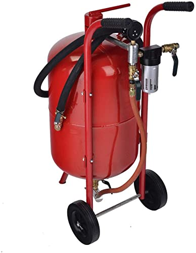 9TRADING New 10 Gallon Portable Air Sandblaster Sand Blaster Kit High Pressure Tank