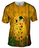"""Yizzam- Gustav Klimt - """"The Kiss"""" (1907-08) -TShirt- Mens Shirt"""