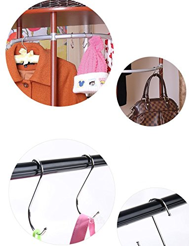 Tsuen 20 Pack S Shaped Hooks Hangers, Heavy Duty Metal Hanging Hooks Hangers Clothes Storage Rack for Kitchen, Bathroom, Bedroom, Work Shop, Garden and Office, 3.3 inches by Tsuen (Image #8)