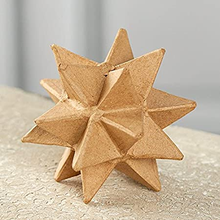 Creating and Embellishing Set of 2 Ready to Personalize Paper Mache Moravian Star Ornaments for Crafting