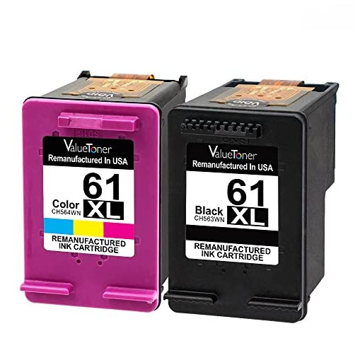 Valuetoner Remanufactured Ink Cartridge Replacement for HP 61 XL 61XL for  Envy 4500 5530 5534, Deskjet 1056 2548 1000 3510 2540 1512, Officejet 4630