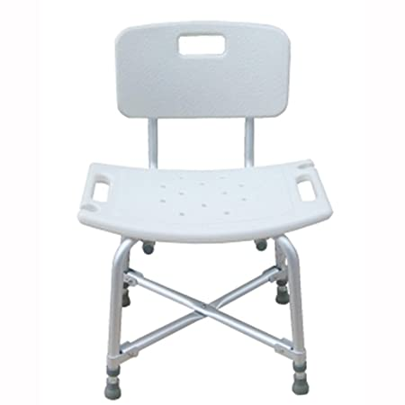 HWF Shower Chair Shower Chair Bath Chair Old People Pregnant Women Bathroom  Elderly Bathing Stool Aluminum