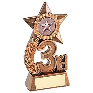 Trofeo de 12,1 cm con grabado en fré de hasta 30 letras RF18A