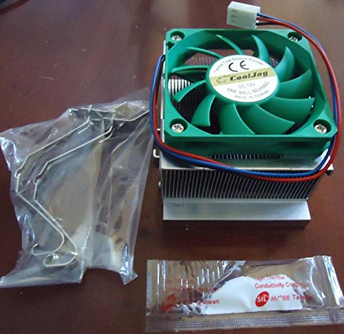 Pentium 4 CPU Cooler - Heatsink + Fan + Thermal Paste Combo - Socket 478 - Great for Normal Users and Overclockers!! (478 Socket 4 Motherboard Pentium)