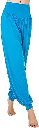KINDOYO Women Plus Size Modal Yoga Pants,Pilates Pants,Elasticated Waist,High Waist Wide Leg Pants for Dancing, Tai Chi