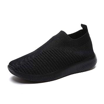 ca4b6888ca8f8 Amazon.com: DETAIWIN Women's Loafers Breathable Platform Mesh Shoes ...