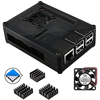 Amazon.com: Smraza Raspberry Pi 3 B+ Case, Raspberry Pi Case ...