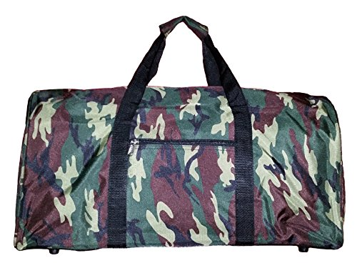 UPC 659523149064, 21 in Print Duffle, Overnight, Carry on Bag with Outside Pocket and Shoulder Strap (Camoflauge)