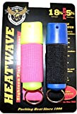 HeatWave 2 Pack Jogger Pepper Spray .50oz Molded Keychain in Jogger Strap
