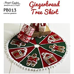 Crochet Pattern G'bread Tree Skirt PB013-R