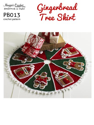Crochet Pattern Gbread Tree Skirt Pb013 R Kindle Edition By