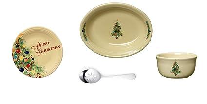 Christmas Bowls And Platters.Amazon Com Fiesta Christmas Tree Oval Vegetable Bowl