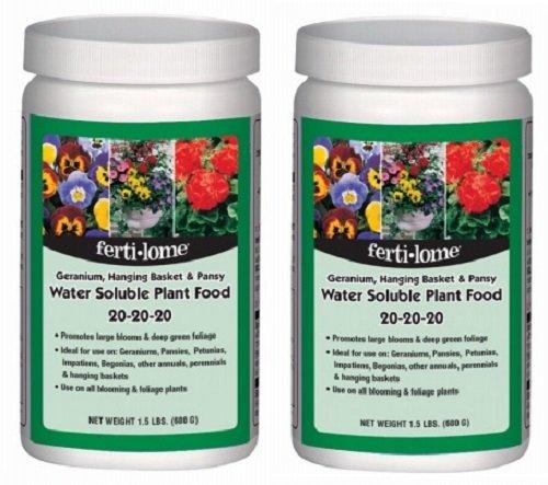 (Ferti-Lome # 10721 1.5 lb 20-20-20 Geranium , Hanging Basket & Pansy Fertilizer - Quantity 2)