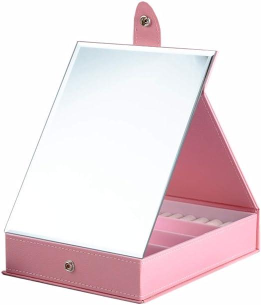 Espejo de maquillaje plegable grande con caja de almacenamiento ...