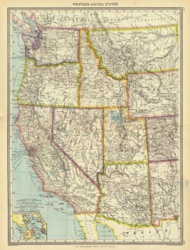 Amazon.com: USA. Western United States; Inset map of San ...