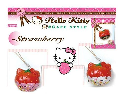 - Sanrio Hello Kitty Strawberry white dip sprinkles Squishy