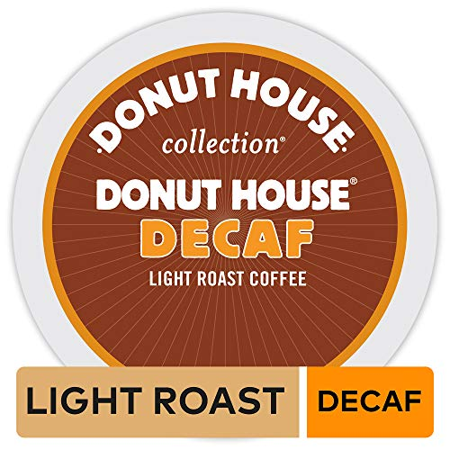 Donut House Collection, Decaf, Single-Serve Keurig K-Cup Pods, Light Roast Coffee, 72 Count (3 Boxes of 24 Pods) ()
