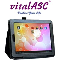 vitalASC 8ARM A9 1.5Ghz Dual Core, DDR3 1GB, 20G TFT ,Dual Camera, Multi-touch Screen and Android 4.1 Jelly Bean Tablet PC bundle Leather Case Stand