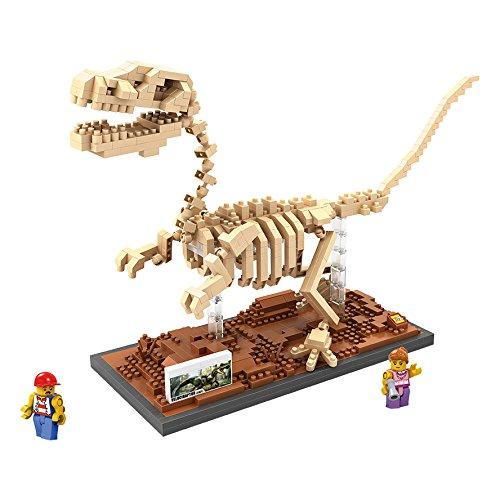 LOZ Diamond Blocks Jurassic World Dinosaur Fossils - Velociraptor 9026