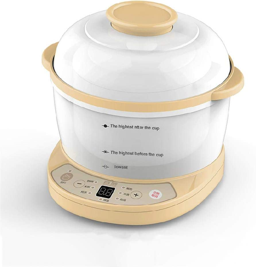 Small Slow Cooker, Anti-Stick And Easy Clean Crockpots Slow Cooker Automatic Insulation and Anti-Drying, 24-Hour Appointment Timer Rice Cooker Ceramic