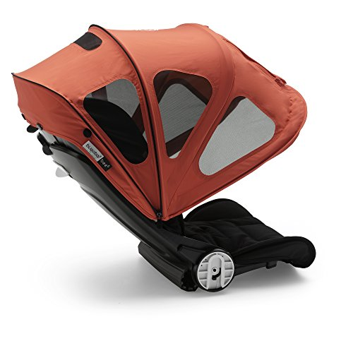 Bugaboo Bee Breezy Sun Canopy, Neon Red - Extendable Sun Canopy with UPF Sun Protection and Mesh Ventilation Panels - Bugaboo Canopy Sunshade