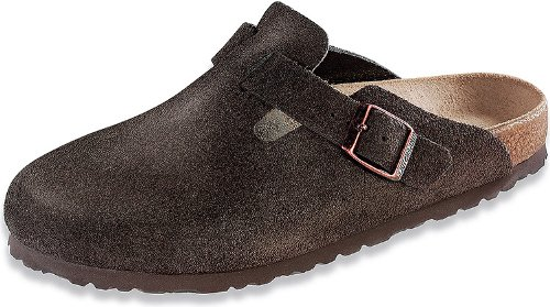 Footwear Suede Mocha (Birkenstock Unisex Boston Mocha Suede Clogs 43 (US Men's 10-10.5 / US Women's 12-12.5))