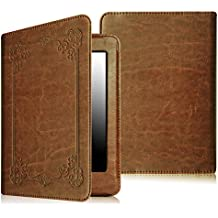 Fintie Folio Case for Kindle Paperwhite - The Book Style PU Leather Cover with Auto Sleep/Wake for All-New Amazon Kindle Paperwhite (Fits 2012, 2013, 2015 and 2016 Versions), Vintage Antique Bronze