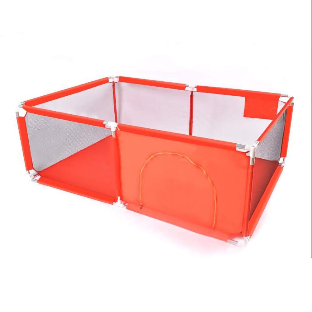 室内スクエアベビーセーフティフェンスクロールマット幼児フェンス家庭用ベビーゲームPlaypen子供用プレイフェンス、レッド、サイズオプション (サイズ さいず : 128×190cm) 128×190cm  B07JD7LMPB