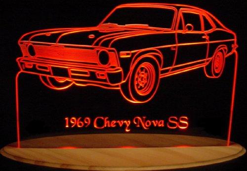 1969 Nova SS Acrylic Lighted Edge Lit 11-13