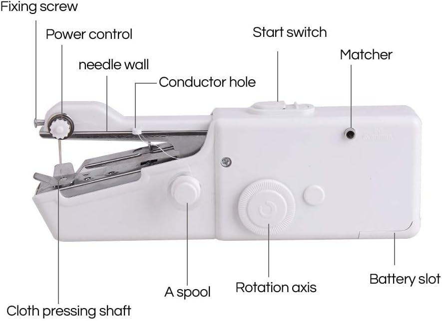 Mini máquina de coser portátil de mano herramienta de puntada ...