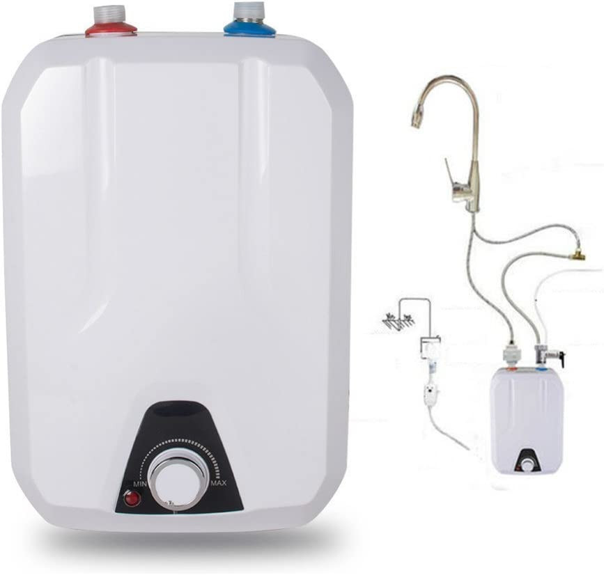 Zorvo Water Heater Instant Electric Hot Water Heater Kitchen 2.5 Gallon Small Size-Shipping from USA,3-5 Business' Day for delivery