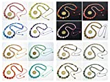 jennysun2010 Handmade Natural Gemstone Beads 4~12mm Graduated Adjustable Necklace Healing