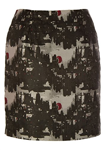 Michael Kors Women's City Skyline Printed Skirt SZ 2 - Gift Kors Free Michael