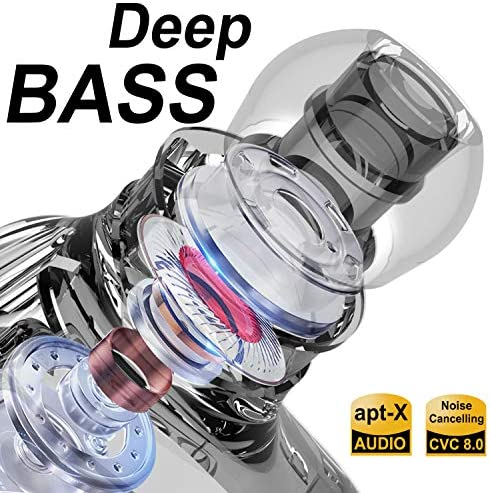 Bluetooth 50 Wireless Earbuds Bluetooth inEar Headphones with Deep Bass 3000mAh Power Bank Charger