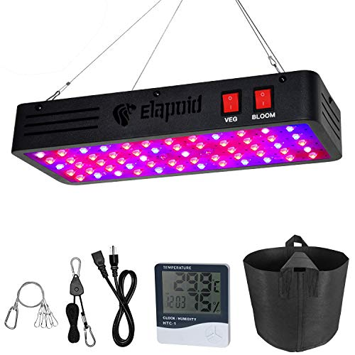 600W LED Grow Lights, Elapoid Full Spectrum Plant Light with Veg and Bloom Double Switch, Dual Chips Grow Lamp with Daisy Chain for Hydroponic Indoor Plants Veg and Flower