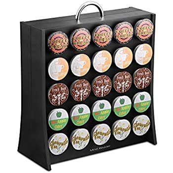 Mind Reader 50 Capacity K-Cup Single Serve Coffee Pod Holder Storage Organizer, Black