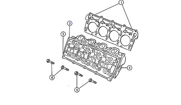 2008 dodge charger engine diagram amazon com mopar 6 1l v8 right cylinder head w 6 1l v8  mopar 6 1l v8 right cylinder head