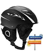 OMORC Skihelm, Snowboardhelm, Skibrille kompatibel Fahrradhelm, Verstellbarer Kopfumfang mit Steuerbarer Belüftung und wechselbares Futter für Skifahren, Skaten, Snowboarden, Radfahren