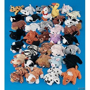 Plush Mini Bean Bag Animal Assortment by Fun Express - 51WlYwdFS0L - 4″ Mini Stuffed Animal Assortment | 50 Count | Favors, Giveaways, Rewards, Gifts, Kid's Birthday, Jungle Theme, Safari Theme, Vacation Bible School, Halloween, Christmas, Easter, Carnival