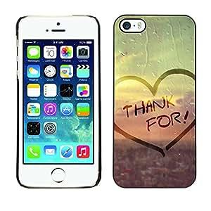 LASTONE PHONE CASE / Carcasa Funda Prima Delgada SLIM Casa Carcasa Funda Case Bandera Cover Armor Shell para Apple Iphone 5 / 5S / Love Thank For