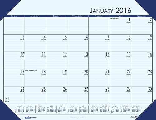 House of Doolittle 2016 Monthly Desk Pad Calendar, EcoTones, 18.5 x 13 Inches (HOD124640-16) (Ecotones Calendar Desk Pad Monthly)