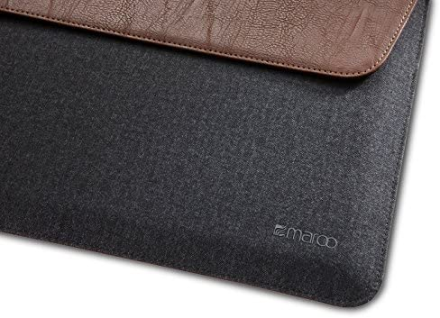 Maroo Woodland Pu Leather Wool Sleeve For Microsoft Surface Pro 3 Brown