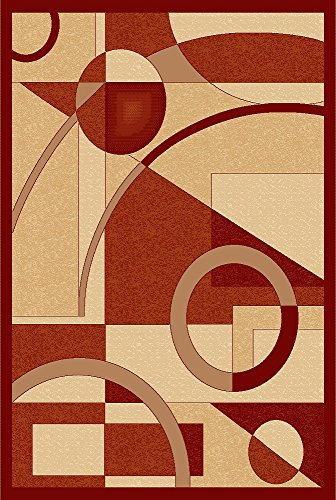 - Golden Rugs Area Rug Modern 5x7 Terra Beige Geometric 12MM Pile Height Hand Carved 500.000 Thread Count Soft Floor Carpet Texture Indoor Living Dining Room and Bedroom Area Platinium Collection