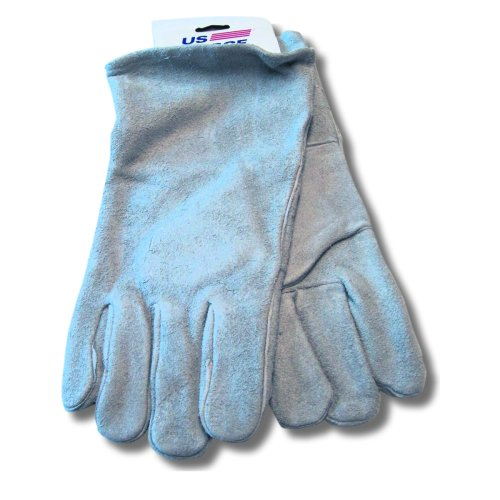 US Forge 99402 Welding Gloves Leather, Gray (Gloves Economy Welding)