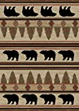 Cheap Rustic Lodge, Bear Cabin 5×7 Area Rug, 5'3″x7'3″ Multi 7482